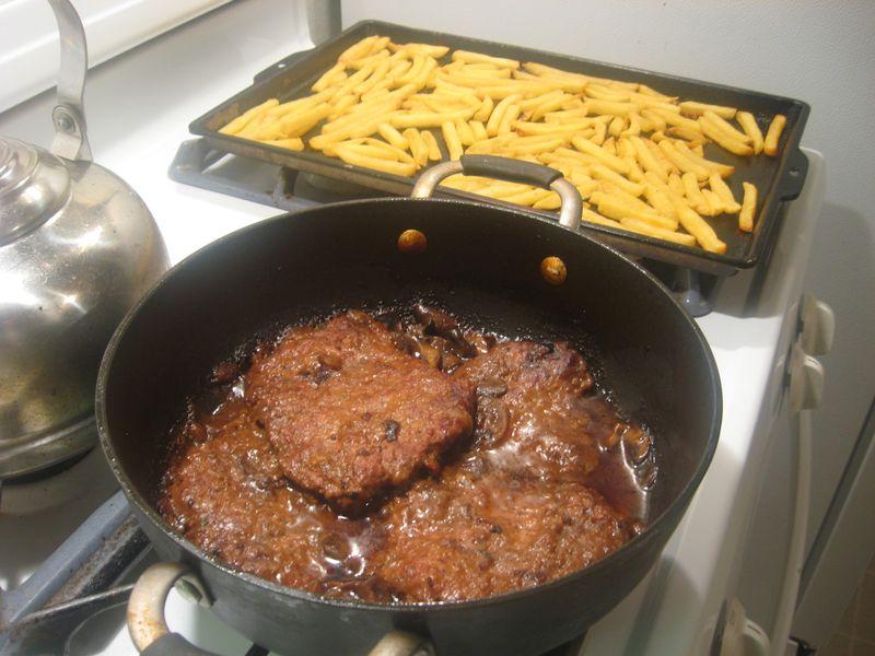 Steak on Potatoes